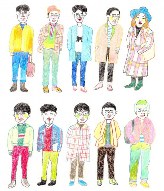 s_portfolio illust mens fashion